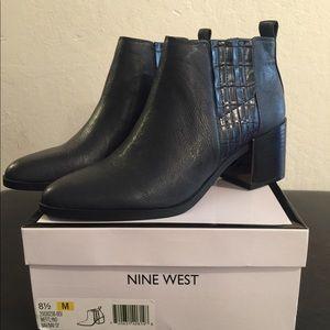 Black Nine West Booties